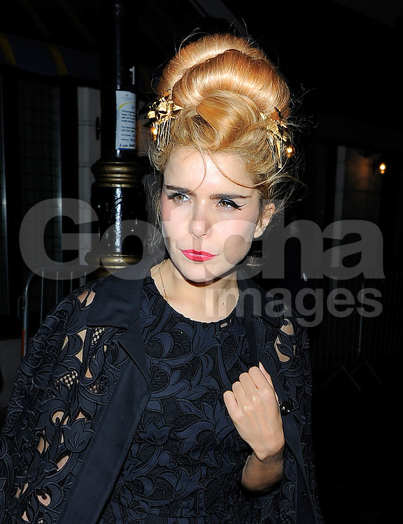 Paloma Faith attends Harvey Weinstein's pre-BAFTA dinner at Little House restaurant in London, UK. 14/02/2014<br />BYLINE MUST READ : GOTCHAIMAGES.COM<br /><br />Copyright by &copy; Gotcha Images Ltd. All rights reserved.<br />Usage of this image is conditional upon the acceptance <br />of Gotcha Images Ltd, terms and conditions available at<br />www.gotchaimages.com