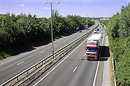 The A14 trunk road as it passes around the Northamptonshire town of Kettering.<br />