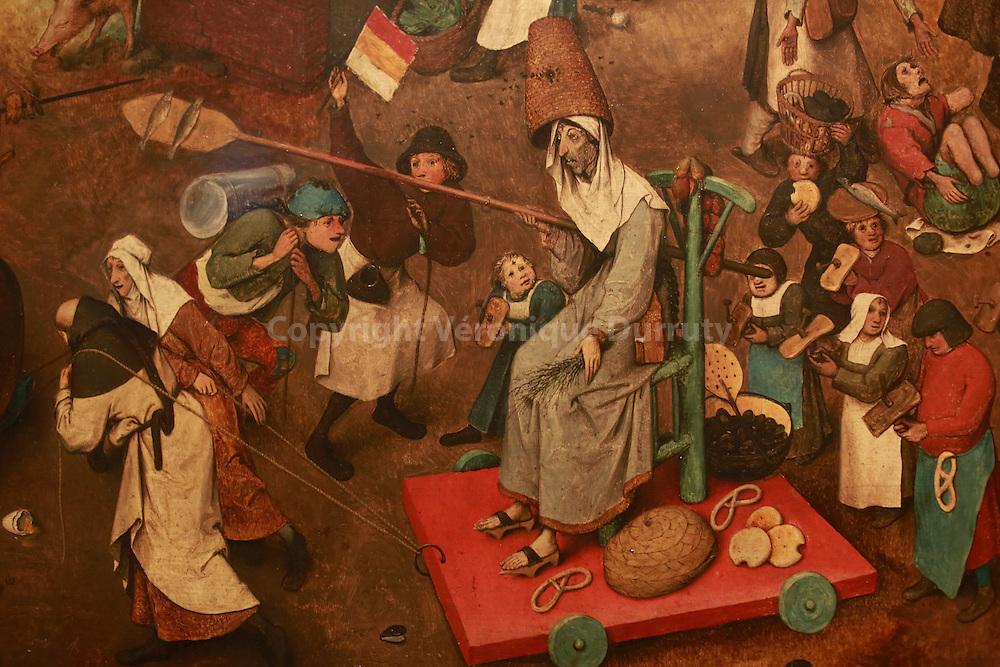 Paintings gallerie, Kunsthistorisches Museum, Vienna, Austria : Pieter Bruegel, The fight between carnival and Lent ( detail ) // Galerie de peinture du Kunsthistorisches Museum, Vienne, Autriche : Pieter Bruegel, La bataille entre le carnaval et le careme ( detail )