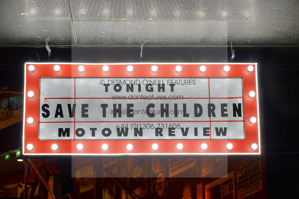 Atmosphere at A Night of Motown in aid of Save The Children UK held at The Roundhouse, Chalk Farm Road, London on 3rd March 2016.
