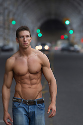 sexy man without a shirt in New York