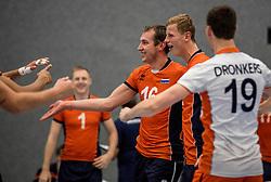 28-08-2016 NED: Nederland - Slowakije, Nieuwegein<br /> Het Nederlands team heeft de oefencampagne tegen Slowakije met een derde overwinning op rij afgesloten. In een uitverkocht Sportcomplex Merwestein won Nederland met 3-0 van Slowakije / Wouter ter Maat #16, Auke van de Kamp #22