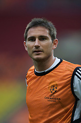 MOSCOW, RUSSIA - Tuesday, May 20, 2008: Chelsea's Frank Lampard during training ahead of the UEFA Champions League Final against Manchester United at the Luzhniki Stadium. (Photo by David Rawcliffe/Propaganda)