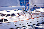 Ethereal  during the 2011  St. Barths Bucket Regatta Race 3.