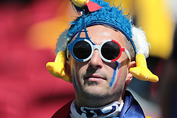 June 16, 2018 - Kazan, Kazan, Russia - Fan of France National team duringa  Group C 2018 FIFA World Cup soccer match between France and Australia on June 16, 2018, at the Kazan Arena in Kazan, Russia. (Credit Image: © Anatolij Medved/NurPhoto via ZUMA Press)