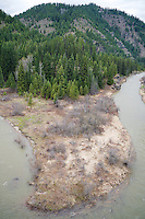A hike up to Jordan Camp from the Coeur d'Alene River Road at mile marker 48 about 25 miles from Pritchard, Idaho on the weekend of May 3, 2014.