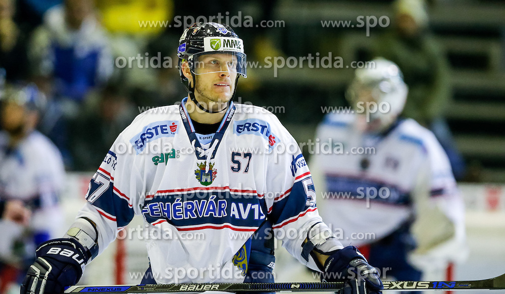 06.12.2015, Messestadion, Dornbirn, AUT, EBEL, Dornbirner Eishockey Club vs Fehervar AV 19, 28. Runde, im Bild Attlia Orban, (Feherva AV19, #57)// during the Erste Bank Icehockey League 28th round match between Dornbirner Eishockey Club and Fehervar AV 19 at the Messestadion in Dornbirn, Austria on 2015/12/06, EXPA Pictures © 2015, PhotoCredit: EXPA/ Peter Rinderer