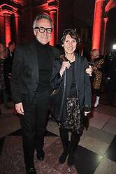 STEPHEN & FLO BAYLEY at a private view to celebrate the opening of the V&A's exhibition of Yohji Yamamoto fashion designs held on 10th March 2011.