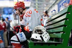 HK Jesenice bench during ice-hockey match between HDD Tilia Olimpija and HK Acroni Jesenice in third game of Final at Slovenian National League, on March 30, 2012 at Hala Tivoli, Ljubljana, Slovenia. (Photo By Matic Klansek Velej / Sportida.com)