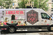 Pamper your dog in the Mobile Pet Spa - seen on the upper eastside of Manhattan