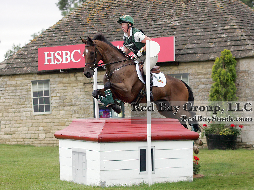 Amy Tryon (USA) and Leyland at the 2011 Land Rover Burghley Horse Trials in Stamford, UK.