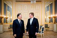 Koning ontvangt president Panama