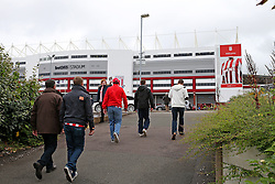 Fans arrive at the Bet365 Stadium - Mandatory by-line: Matt McNulty/JMP - 20/08/2016 - FOOTBALL - Bet365 Stadium - Stoke-on-Trent, England - Stoke City v Manchester City - Premier League