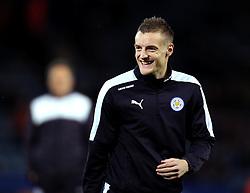 Jamie Vardy of Leicester City smiles - Mandatory byline: Robbie Stephenson/JMP - 28/11/2015 - Football - King Power Stadium - Leicester, England - Leicester City v Manchester United - Barclays Premier League