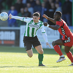TELFORD COPYRIGHT MIKE SHERIDAN 29/9/2018 - Daniel Udoh of AFC Telford during the Conference North fixture between Blyth Spartans and AFC Telford United at Croft Park, Blyth.
