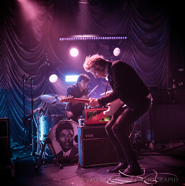 Britt Daniel frontman of Texas band, Spoon, live at the Junction in Cambridge touring their latest album Hot Thoughts on 9 Nov 2017