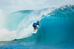 Aug 12, 2017 - teahupo'o, Tahiti, French Polynesia - Joan Duru (FRA) placed 1 st in Heat 10 of Round Three at Billabong Pro Tahiti 2017 (Credit Image: © WSL/POULLENOT/World Surf League via ZUMA Wire)