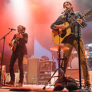 FAIRFAX, VA - February 28th, 2014 - Bob Crawford, Scott Avett, Seth Avett and Mike Marsh of The Avett Brothers perform at the Patriot Center in Fairfax, VA. Their latest album, Magpie and the Dandelion, reached #5 on the U.S. Billboard 200 chart. (photo by Kyle Gustafson / For The Washington Post)