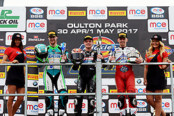 #95 David Allingham Eglinton EHA Racing Yamaha Dickies British Supersport #1 Tarran Mackenzie Ashby-de-la Zouch McAMS Yamaha Yamaha Dickies British Supersport #4 Jack Kennedy Ireland GAC MV Agusta Dickies British Supersport PODIUM