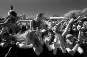 Front row of the crowd at the Big Day Out Festival Perth Joondalup W.Australia 1990's
