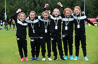 14 Aug 2016:  Sligo U12 7 a-side Girls Soccer team. 2016 Community Games National Festival 2016.  Athlone Institute of Technology, Athlone, Co. Westmeath. Picture: Caroline Quinn