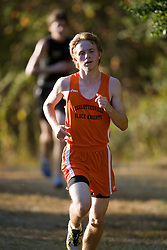 The Charlottesville High School Black Knights faced the Monticello High School Mustangs in cross country at Darden Towe Park in Charlottesville, VA on October 3, 2007.