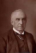 Charles Russell, first Baron Russell of Killowen (1832-1900) English lawyer. Lord Chief Justice of England from 1894.  From 'The Cabinet Portrait Gallery' (London, 1890-1894).  Woodburytype after photograph by W & D Downey.