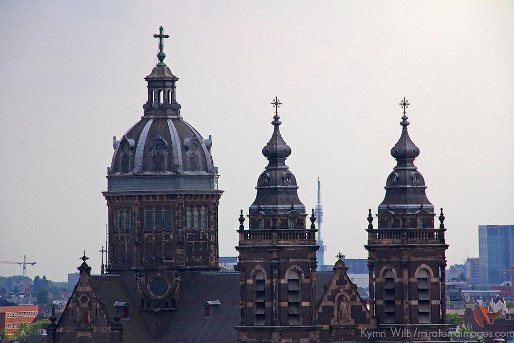 Europe, Netherlands, Amsterdam. Saint Nicholas Church, the biggest church in Amsterdam.