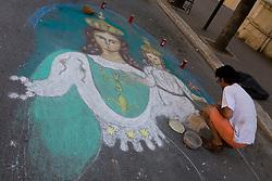 Matera, Basilicata, Italy - July 2007 - The feast of the Madonna della Bruna.