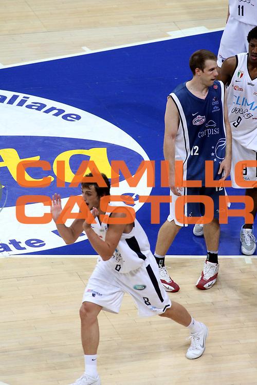 DESCRIZIONE : Bologna Lega A1 2005-06 Play Off Semifinale Gara 5 Climamio Fortitudo Bologna Carpisa Napoli <br />GIOCATORE : Belinelli <br />SQUADRA : Climamio Fortitudo Bologna <br />EVENTO : Campionato Lega A1 2005-2006 Play Off Semifinale Gara 5 <br />GARA : Climamio Fortitudo Bologna Carpisa Napoli <br />DATA : 11/06/2006 <br />CATEGORIA : Esultanza<br />SPORT : Pallacanestro <br />AUTORE : Agenzia Ciamillo-Castoria/G.Ciamillo