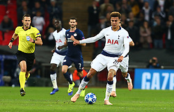 November 6, 2018 - London, England, United Kingdom - London, England - November 06, 2018.Tottenham Hotspur's Dele Alli.during Champion League Group B between Tottenham Hotspur and PSV Eindhoven at Wembley stadium , London, England on 06 Nov 2018. (Credit Image: © Action Foto Sport/NurPhoto via ZUMA Press)