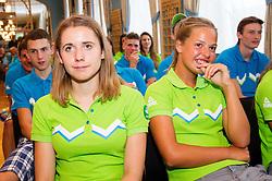 Presentation of Team Slovenia for 12th European Youth Olympic Summer Festival in Utrecht, Netherlands  on July 9, 2013 in Hotel Union, Ljubljana, Slovenia. (Photo by Vid Ponikvar / Sportida.com)