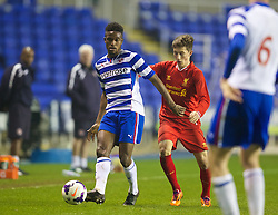 READING, ENGLAND - Wednesday, March 12, 2014: Reading's Nana Owusu in action against Liverpool during the FA Youth Cup Quarter-Final match at the Madejski Stadium. (Pic by David Rawcliffe/Propaganda)