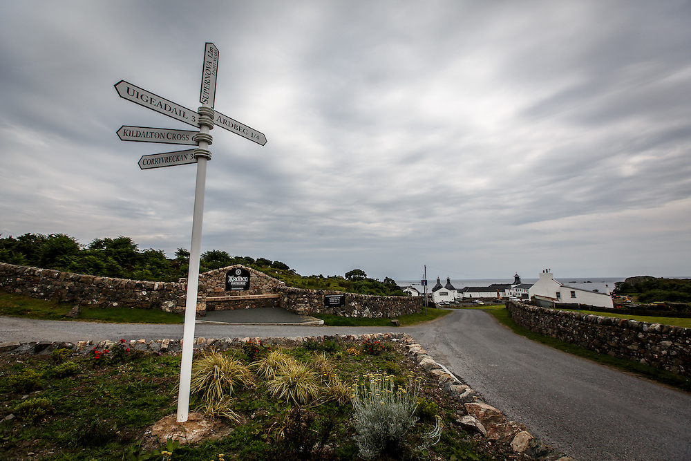 Road signs at Ardbeg Distillery in Port Ellen, Isle of Islay, Scotland, July 15, 2015. Gary He/DRAMBOX MEDIA LIBRARY