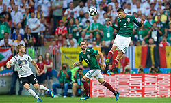 MOSCOW, RUSSIA - Sunday, June 17, 2018: Mexico's Hugo Ayala during the FIFA World Cup Russia 2018 Group F match between Germany and Mexico at the Luzhniki Stadium. (Pic by David Rawcliffe/Propaganda)
