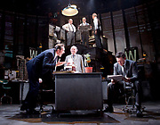 Ink <br /> by James Graham <br /> directed by Rupert Goold <br /> world premier <br /> at Almeida Theatre, London, Great Britain <br /> press photocall 26th June 2017 <br /> <br /> <br /> Bertie Carvel as Rupert Murdoch - front left <br /> <br /> Richard Coyle as Larry Lamb - front right <br /> <br /> Geoffrey Freshwater as Sir Alice McKay - front centre <br /> <br /> David Schofield as Hugh Cudlipp <br /> <br /> Tony Turner as Franks Nicklin <br /> <br /> Rene Zagger as Ray Mills <br /> <br /> Photograph by Elliott Franks <br /> Image licensed to Elliott Franks Photography Services