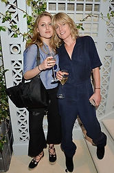 Left to right, CHARLOTTE DAWNAY and her mother RACHEL JOHNSON at a cocktail party to mark the opening of the House of Dior, the United Kingdom's largest and premier Dior boutique at 160-162 New Bond street, London on 8th June 2016.