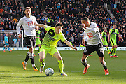 Huddersfield Town midfielder Joe Lolley on the ball during the Sky Bet Championship match between Derby County and Huddersfield Town at the iPro Stadium, Derby, England on 5 March 2016. Photo by Aaron Lupton.