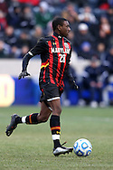 15 December 2013: Maryland's Chris Odoi-Atsem. The University of Maryland Terripans played the University of Notre Dame Fighting Irish at PPL Park in Chester, Pennsylvania in a 2013 NCAA Division I Men's College Cup championship match. Notre Dame won the game 2-1.