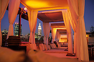 New York. BED lounge bar restauranat on a rooftop in chelsea  Manathan New York  United States /  BED Lounge bar restaurant sur un toit a Chelsea