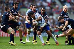Ofisa Treviranus of Samoa goes on the charge - Mandatory byline: Patrick Khachfe/JMP - 07966 386802 - 20/09/2015 - RUGBY UNION - Brighton Community Stadium - Brighton, England - Samoa v USA - Rugby World Cup 2015 Pool B.
