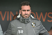 Port Vale Manager, Bruno Ribiero during the EFL Sky Bet League 1 match between Bury and Port Vale at the JD Stadium, Bury, England on 3 September 2016. Photo by Mark Pollitt.
