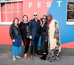 Edinburgh International Film Festival 2019<br /> <br /> A Girl From Mogadishu (International Premiere)<br /> <br /> Pictured: Ifrah Ahmed (r) and Mary McGuckian (Director, 2nd right)<br /> <br /> Aimee Todd | Edinburgh Elite media