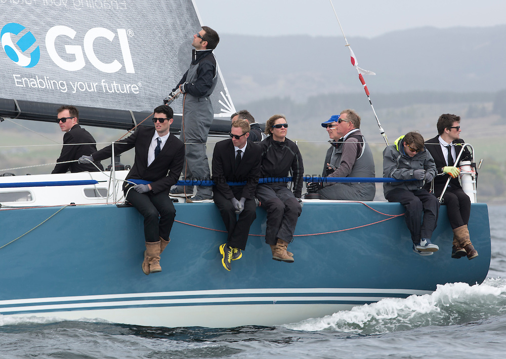 Day two of the Silvers Marine Scottish Series 2015, the largest sailing event in Scotland organised by the  Clyde Cruising Club<br /> Racing on Loch Fyne from 22rd-24th May 2015<br /> <br /> GBR7737R, Aurora, Rod Stuart / A Ram, CCC, Corby 37<br /> <br /> Credit : Marc Turner / CCC<br /> For further information contact<br /> Iain Hurrel<br /> Mobile : 07766 116451<br /> Email : info@marine.blast.com<br /> <br /> For a full list of Silvers Marine Scottish Series sponsors visit http://www.clyde.org/scottish-series/sponsors/