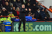 AFC Bournemouth manager Eddie Howe shouting out instructions during the Premier League match between Bournemouth and Huddersfield Town at the Vitality Stadium, Bournemouth, England on 4 December 2018.