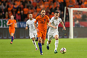 Laurent Koscielny in duel with Bas Dost <br />  during the FIFA World Cup Qualifier match between Netherlands and France at the Amsterdam Arena, Amsterdam, Netherlands on 10 October 2016. Photo by Gino Outheusden.