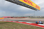 Spain's Maverick Vinales (25) in a practice session during the 2016 Grand Prix of the Americas Moto GP race at circuit of the Americas, in Austin, Texas on April 9, 2016.