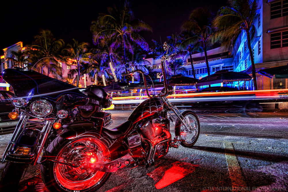 Motorcycles and the Clevelander Hotel