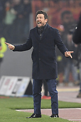March 1, 2019 - Roma, Italia - Foto Fabrizio Corradetti / LaPresse.02 marzo 2019 Roma, Italia.Sport Calcio.Lazio vs Roma - Campionato di calcio Serie A TIM 2018/2019 - stadio Olimpico. .Nella foto: Eusebio Di Francesco..Photo Fabrizio Corradetti / LaPresse.March 02 st  2019 Rome, Italy.Sport Soccer.Lazio vs Roma - Italian Football Championship League A TIM 2018/2019 - Olimpico stadium..In the pic: Eusebio Di Francesco (Credit Image: © Fabrizio Corradetti/Lapresse via ZUMA Press)