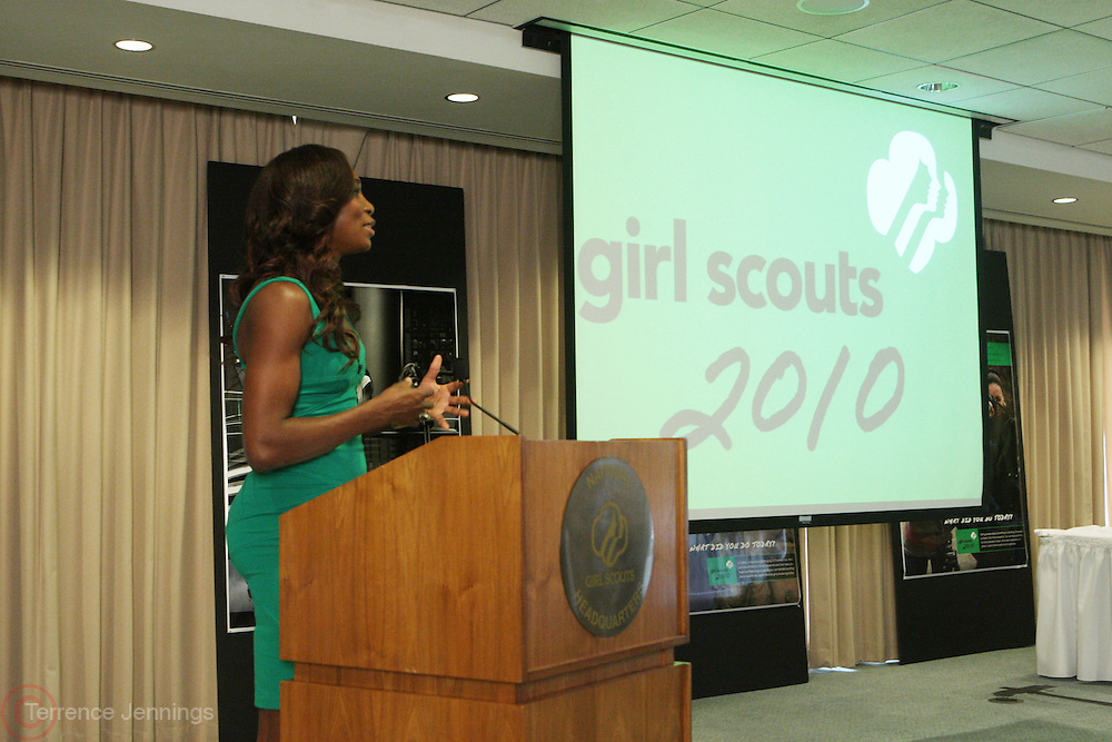 7 July 2010- New York, NY- Venus Williams at speaking engagement and book signing held at Girls Scout Headquarters in New York City with Tennis Icon Venus Williams as she begins her promotion of her new book ' Come to Win ' published by HarperCollins, on July 7, 2010 in New York City.